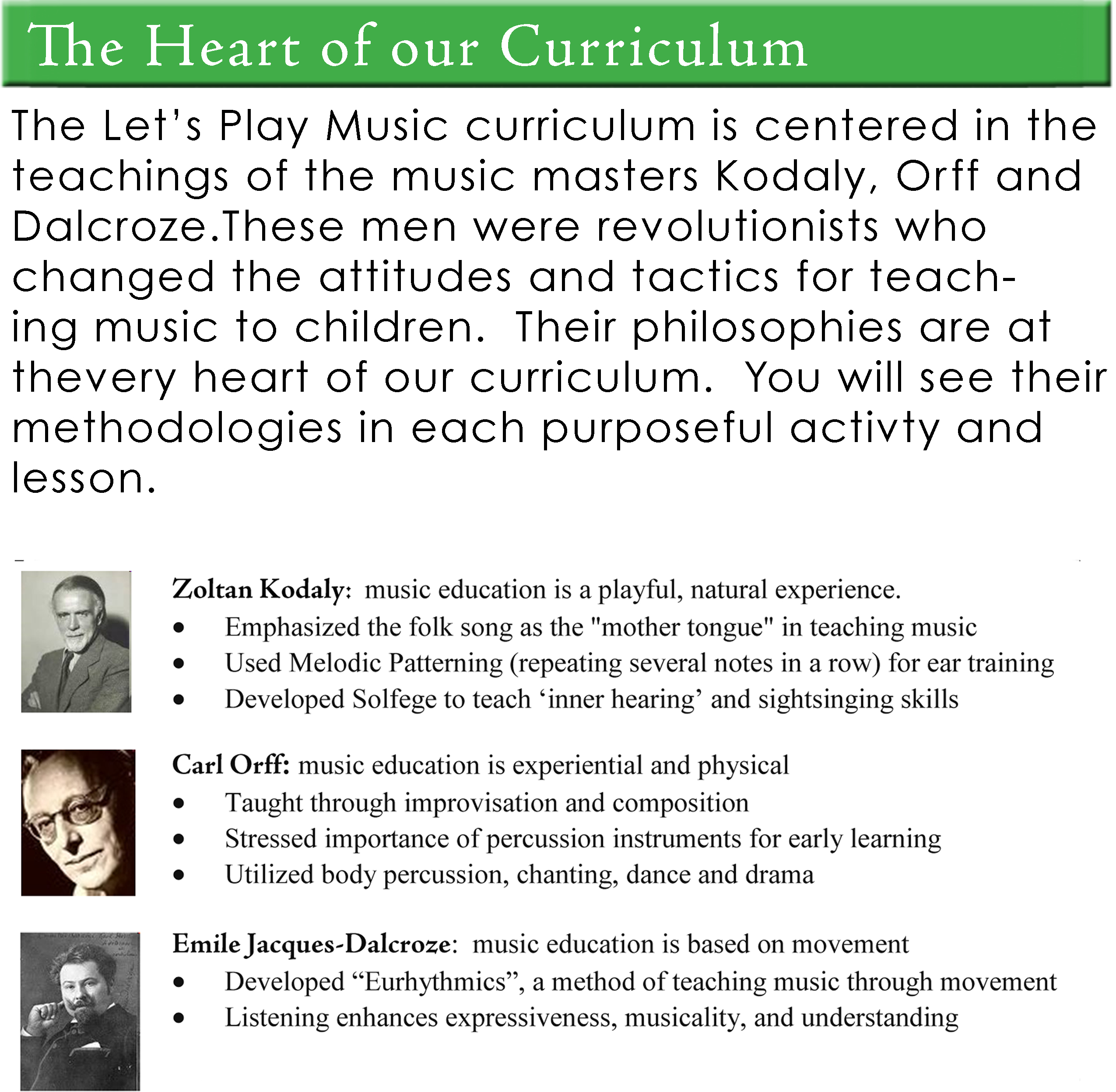 The Heart of Our Curriculum
